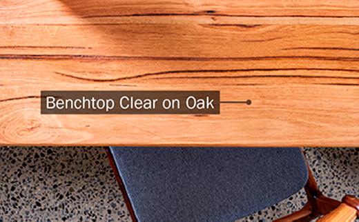 Benchtop Clear on Oak