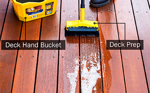 Deck Prep Scrubbing Deck Clean